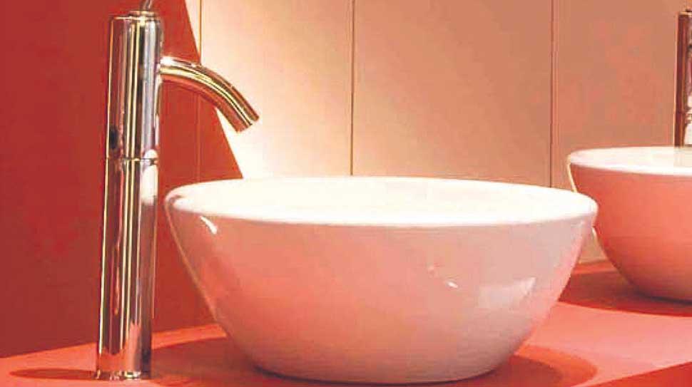 Bachas Blancas Para Baño:Bachas para baños: líneas limpias