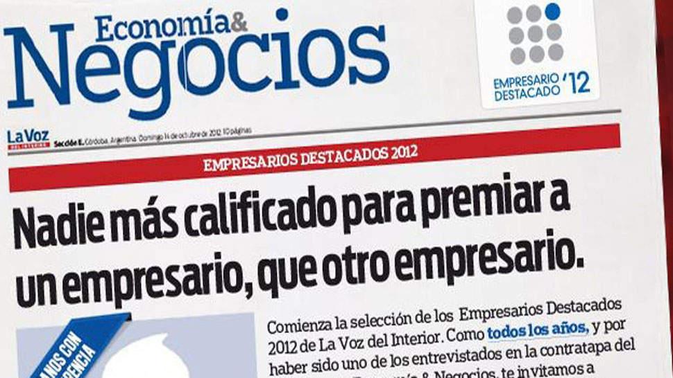 Se larg empresarios destacados 2012 la voz del interior for La voz del interior trabajo