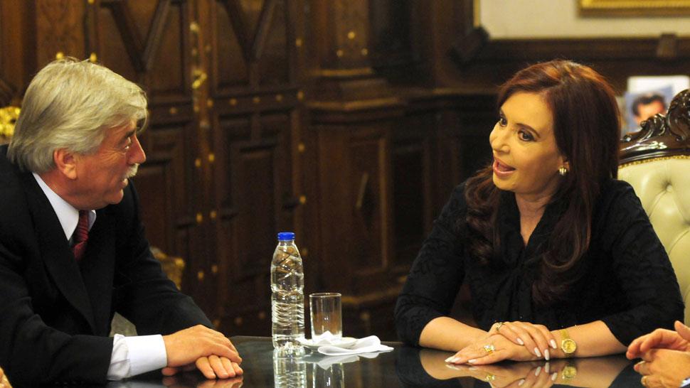 JUNTOS. Soria y la Presidenta, luego de que el gobernador ganara las elecciones (DyN/Archivo).