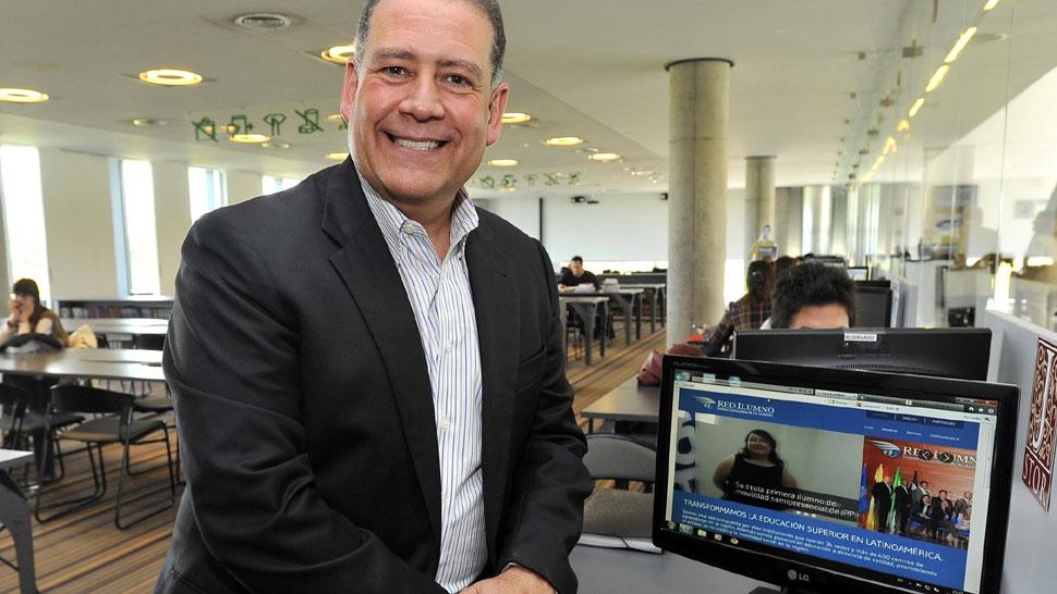 Pete Pizarro. Cree que la enseñanza por medios electrónicos es clave a nivel terciario (Sergio Cejas/La Voz).