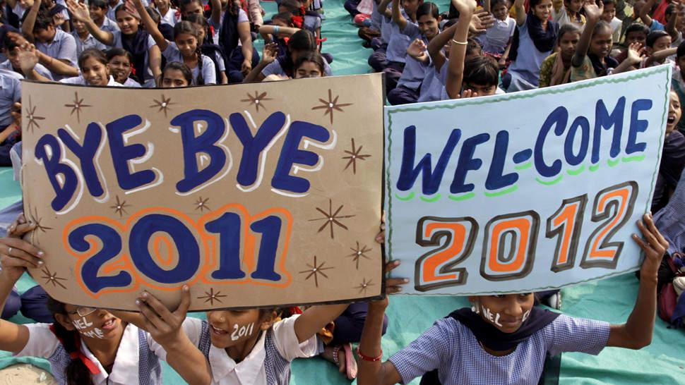 INDIA. La despedida de 2011 (AP).