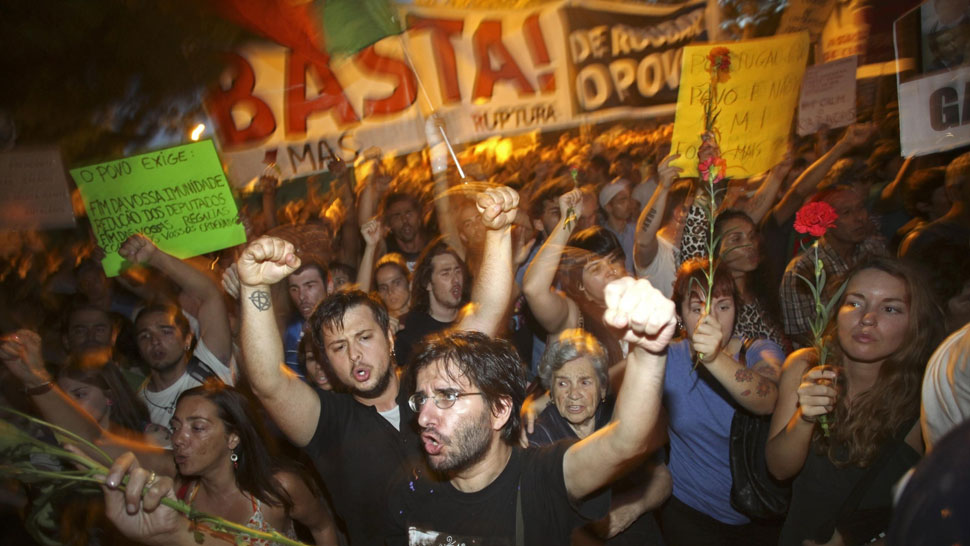 Protesta. Los portugueses se oponen a las impopulares medidas (AP).