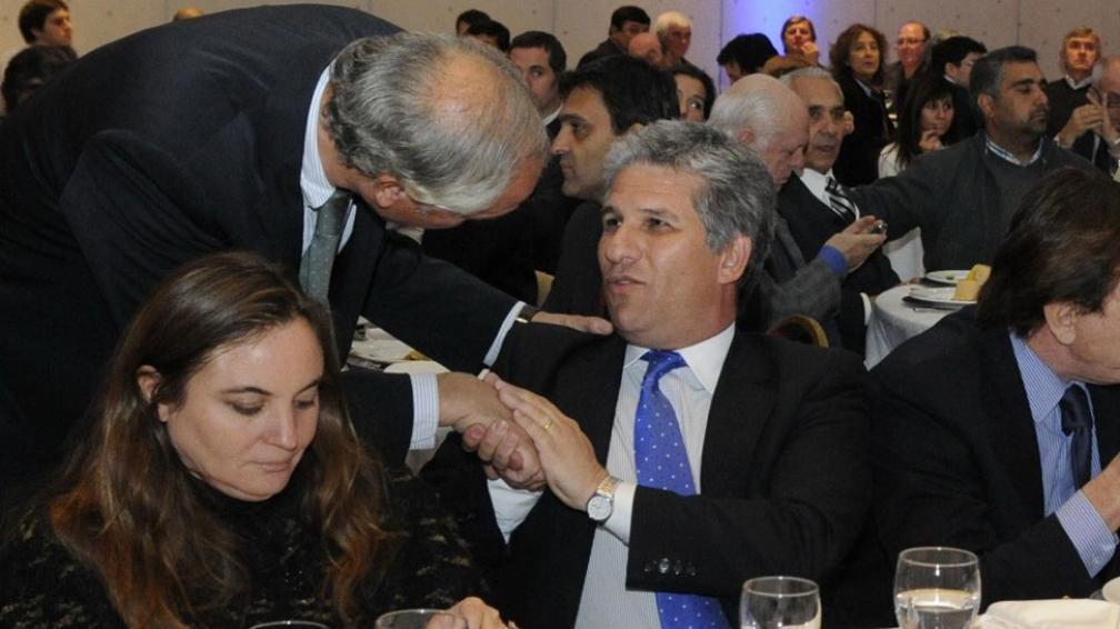 Movimiento. Directivos de la Fundación Mediterránea, el gobernador de San Luis y el ministro de Industria de Córdoba (Facundo Luque).