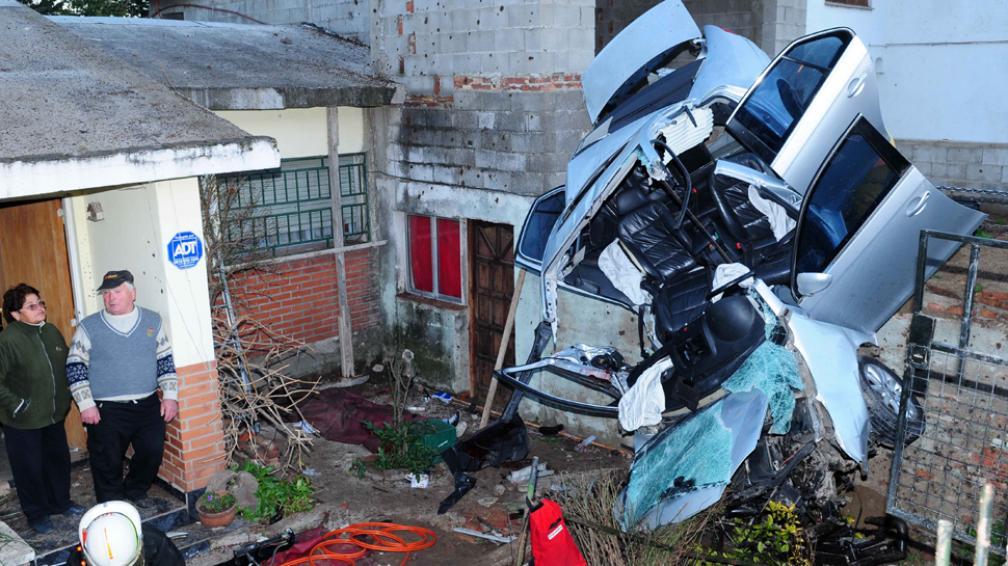 ACCIDENTE. Una víctima fatal y un herido (Foto: Gentileza Luis Varela).