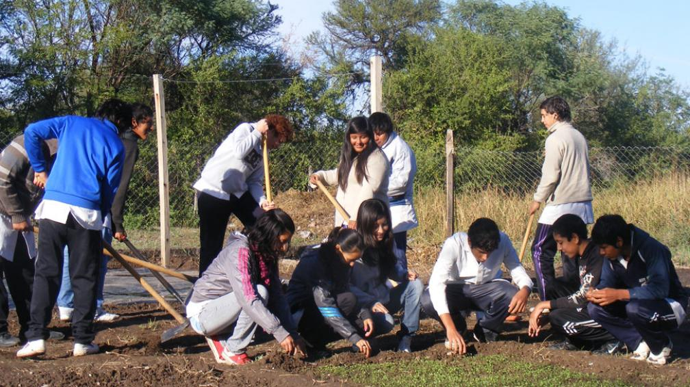 En la escuela secundaria de Sauce Arriba, más del 50 por ciento de los alumnos viene de la ciudad de Villa Dolores (La Voz).
