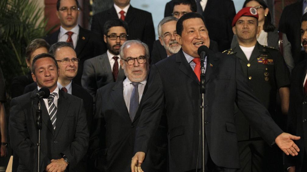 Satisfecho. Chávez, visitado el día 25 por una misión brasileña, celebró el ingreso de su país al Mercosur.