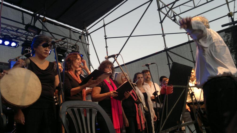 FESTEJOS.  The Greets toca los mejores hits de The Beatles en el Parque de las Naciones (Sergio Cejas / La Voz).