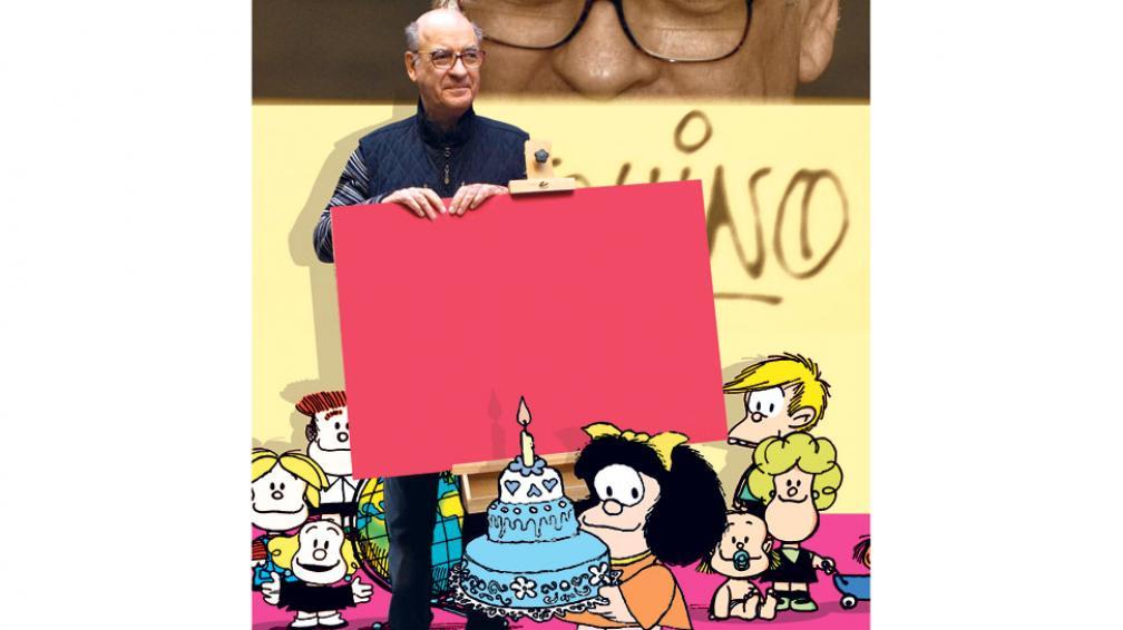 El martes, el papá de Mafalda apagará las velitas.  La afamada tira apareció en 1964 y sus originales  se publicaron hasta 1973. Desde entonces y hasta hoy se reiteran a diario. Su vigencia se mantiene intacta, como el genio de su autor (DyN / Archivo).