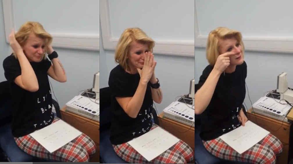 JOANNE. Al escuchar las primeras palabras de los médicos (Captura de video).