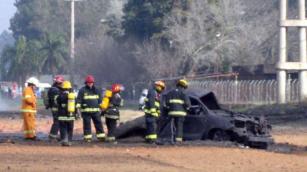TOYOTA. La camioneta donde se hallaron los restos del productor (Gentileza Cristian Molina).