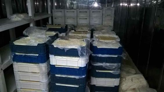 PRODUCTOS. Parte de los quesos incautados por Agroindustria en operativos de control en Córdoba y Entre Ríos. (PRENSA AGROINDUSTRIA)