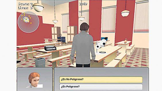 En la banca. Este juego fue desarrollado a pedido de un banco español, para capacitar a sus nuevos empleados.