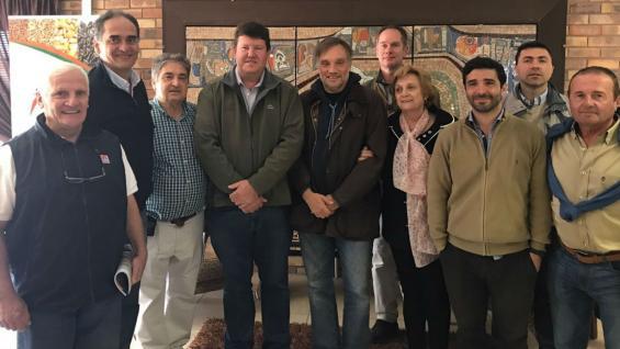 La delegación argentina que firmó el acuerdo en Sudáfrica. (Cafma)