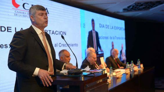BURYAILE. El ministro de Agroindustria, en el festejo por el Día de la Exportación (Prensa Agroindustria)