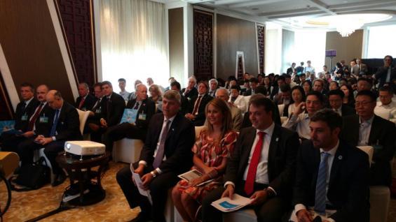 Parte de la delegación argentina, durante las reuniones en China (IPCVA).