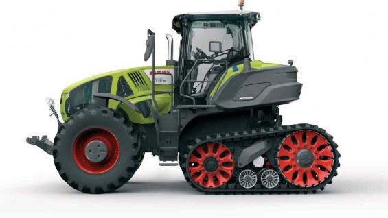 Medalla de plata. El tractor el Axion 900 Terra Trac,con oruga suspendida. (Prensa Claas)