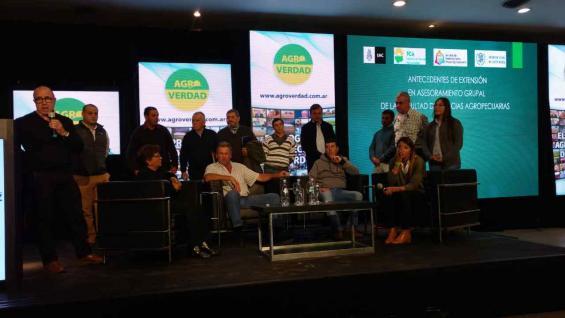 GANADEROS. El Grupo Caminiaga expuso en la agrojornada su experiencia productiva a partir del asesoramiento profesional. (LA VOZ)
