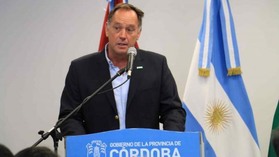 DE RAEDEMAEKER. El actual presidente de Cartez, en una de sus últimas intervenciones en el Centro Cívico de Río Cuarto.