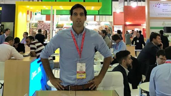NEGOCIOS. Máximo Costamagna viajó a Gulfood para comercializar su producción a diferentes países.