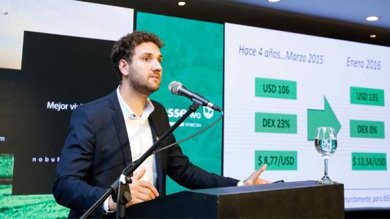 MÁRGENES. El economista Gonzalo Agusto hizo los cálculos para el trigo 2019/20. (LA VOZ)