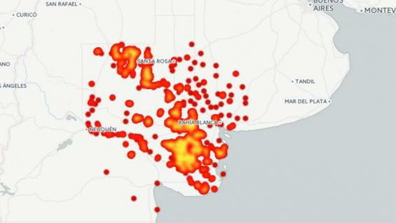 Un mapa muestra los focos registrados en las tres provincias (La Nueva.com)