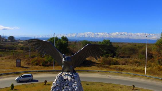 NIEVE. Las sierras vistas desde Villa Dolores (Gentileza Miguel Corte).