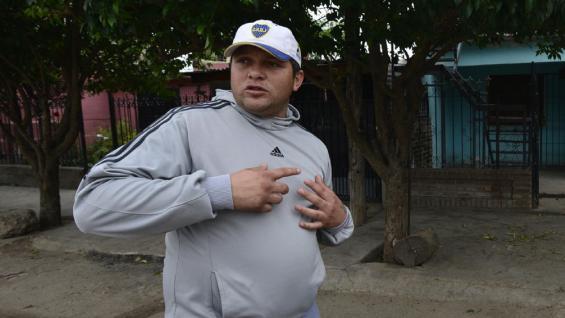 Distancia. Federico relató que el balazo que mató a su hijo recorrió más de 200 metros, en Ramal Sur. (Pedro Castillo)