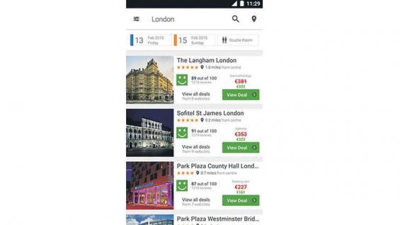 Trivago. Para buscar tarifas de hoteles según preferencias propias.