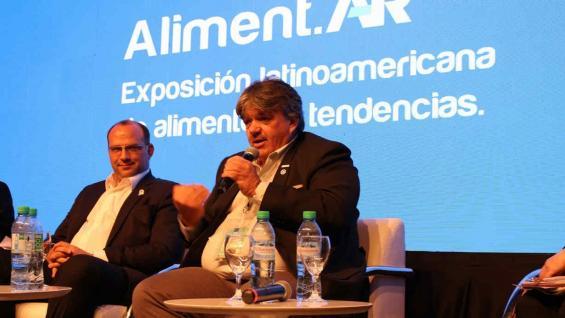 FORTE. El presidente del IPCVA, en la Expo Aliment.AR (Prensa AlimentAR)