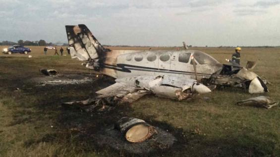 Cayó una avioneta en San Vicente: hay tres heridos