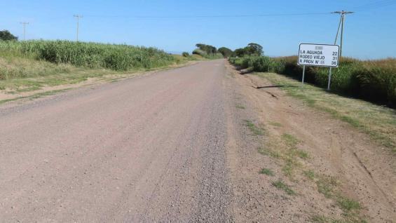 CAMINO. Así luce el enripiado realizado en 11 kilómetros, cerca de Río Cuarto. (Gobierno de Córdoba)