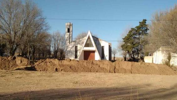 """RELIGIÓN. Una Iglesia quedó """"aislada"""" por las medidas del Gobierno puntano. (Gentileza Antonio María Hernández)"""