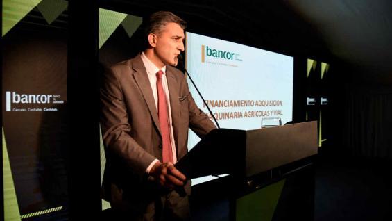 FINANCIAMIENTO. Nicolás Albrisi, gerente de Bancor, disertó en la jornada (Ramiro Pereyra)