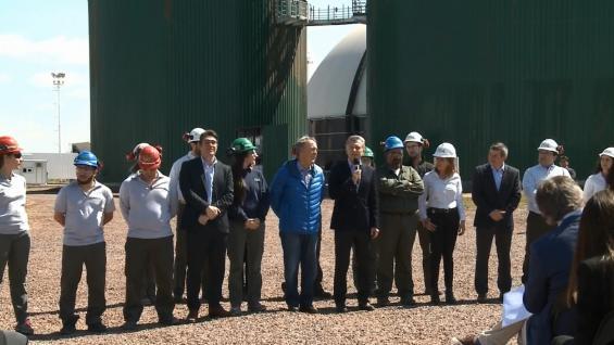 MACRI. Junto a Schiaretti, el presidente estuvo en Río Cuarto. (Youtube Casa Rosada)