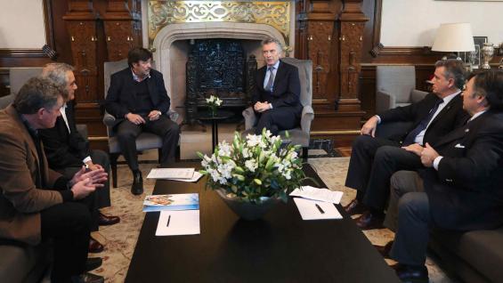 REUNIÓN. Macri encabezó un encuentro con los dirigentes del agro. (Presidencia de la Nación)