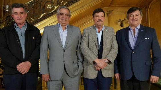 MESA DE ENLACE. Los presidentes de las cuatro entidades se reunieron en la Sociedad Rural. (Prensa SRA)