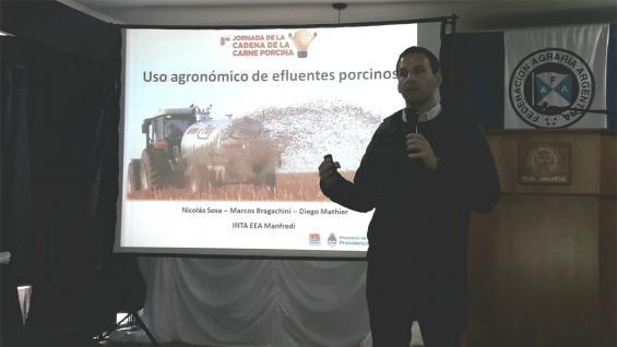 """CICLO CERRADO. """"Hay que pensar en un ciclo cerrado de nutrientes; que todo vuelva al sistema productivo"""", dijo Nicolás Sosa, del Inta Manfredi. (Agrovoz)"""