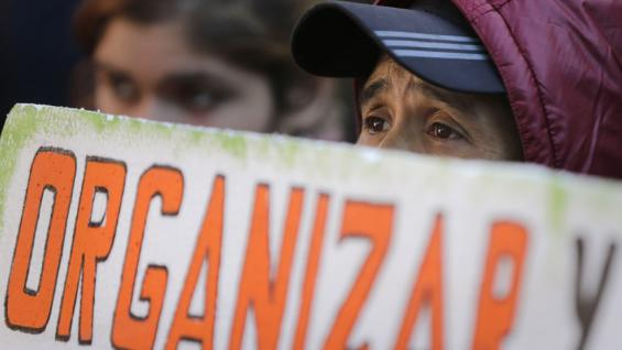 PARAGUAY. Las marchas por el Día del Trabajador (AP).