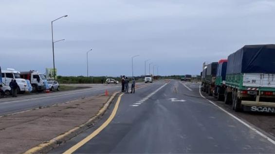 PROTESTA. De transportistas de Obispo Trejo, Córdoba. (Fetra)