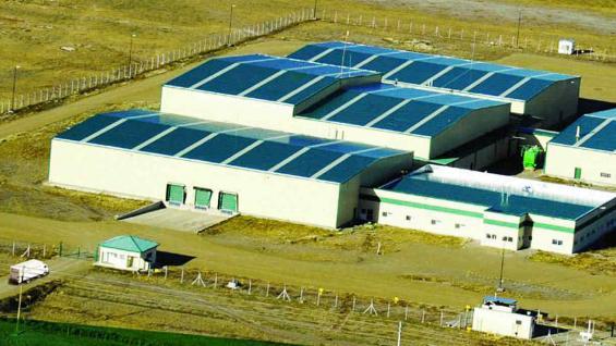 La planta industrial de última tecnología en Río Grande, Tierra del Fuego. / Tecnomyl