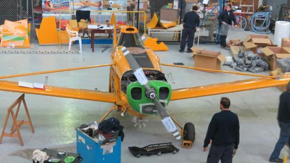 PUELCHE. La aeronave está equipada para pulverizaciones y para siembras aéreas (Presidencia de la Nación)