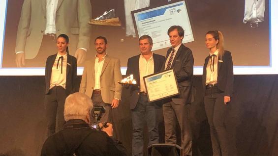 ORO. Tecnopulverización se llevó el máximo galardón en los Premios Cita. (Pablo de Chiara)