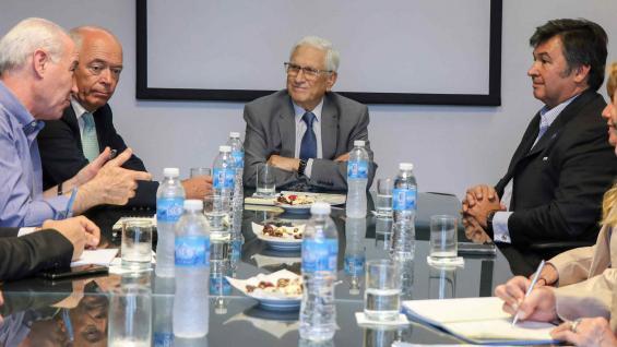 REUNIÓN. El presidente del Indec se reunió con autoridades de la Sociedad Rural. (Indec)