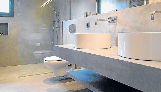Baño Microcemento Alisado:estética Son características propias del microcemento