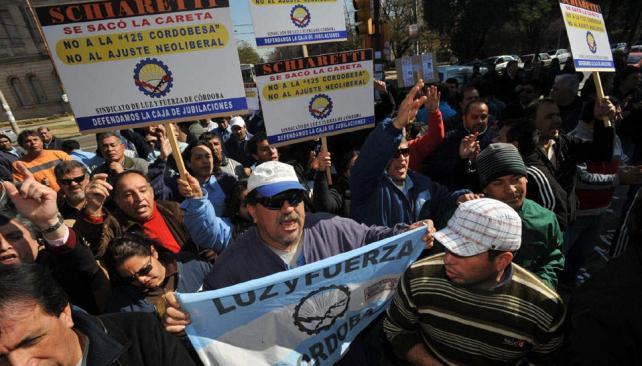 Emergencia. En julio de 2008, los gremios expresaron un duro rechazo a la emergencia previsional (Antonio Carrizo/Archivo).