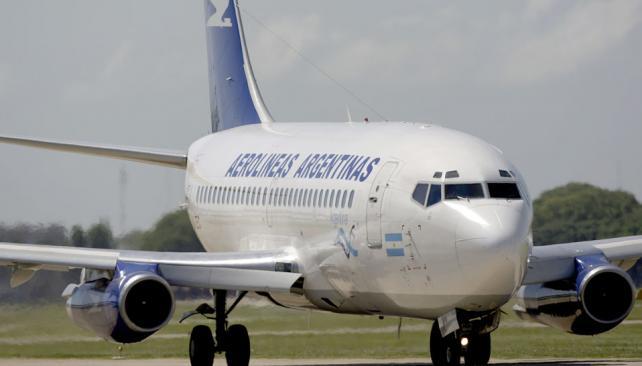 AEROLÍNEAS. Suspendió sus vuelos internacionales (DyN/Archivo).