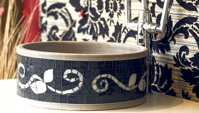 Bachas Para Baño De Vidrio: para ambientes rústicos Rondan los mil pesos Foto: modelo de Fango