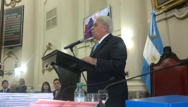 De la Sota. Durante su discurso en el recinto (Sergio Cejas/Lavoz).
