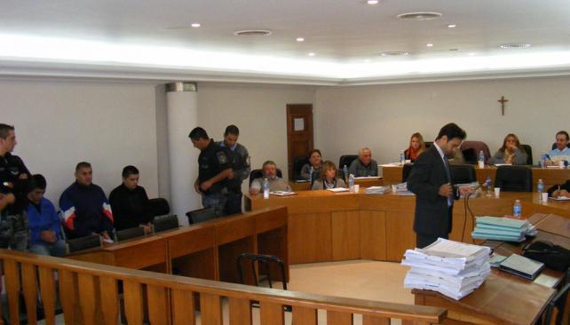 CASO AUBÁN. Una de las audiencias del juicio (La Voz).