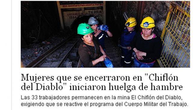 Chile 33 mujeres se encerraron en una mina para reclamar for La voz del interior trabajo